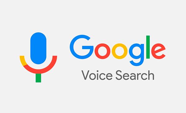 logo google de busqueda por voz
