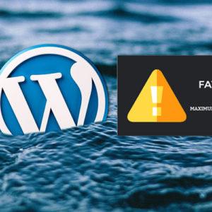 ¿Cómo incrementar Maximum Execution Time en WordPress ?